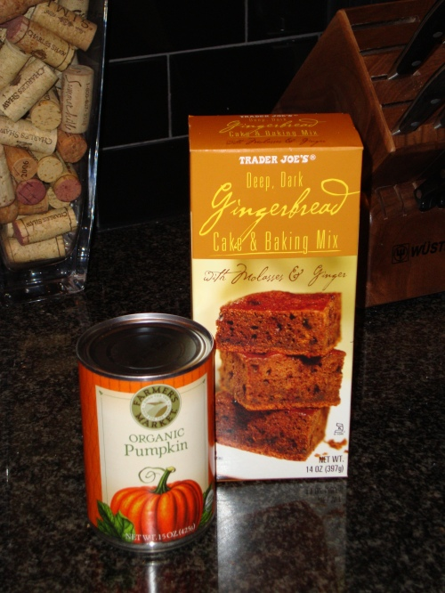 TJ's gingerbread mix & organic canned pumpkin