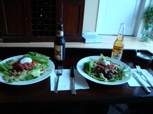 Southwest Salads + Mexican Beers