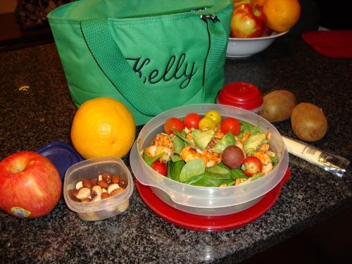 Salad and snacks