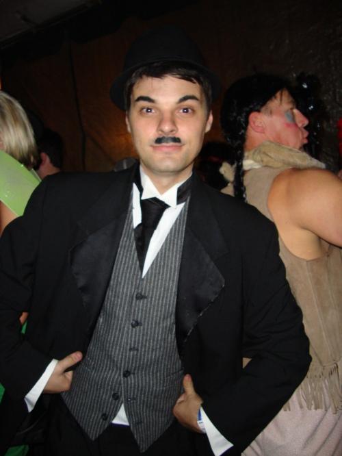 Brad as Charlie Chaplin
